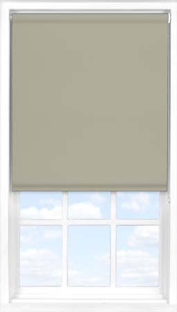 Motorised Roller Blind in Warm Grey Blackout