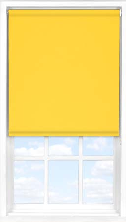 Motorised Roller Blind in Canary Yellow Blackout