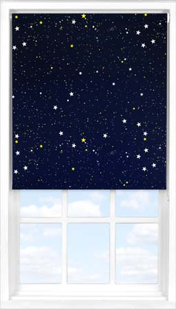 Motorised Roller Blind in Night Sky Blackout