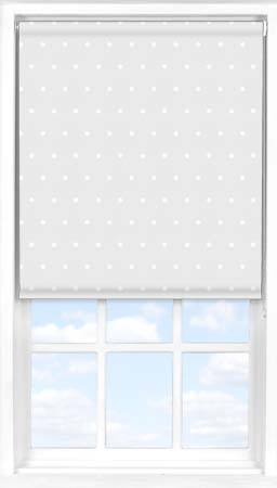 Roller Blind in Grey Polka Dot Blackout