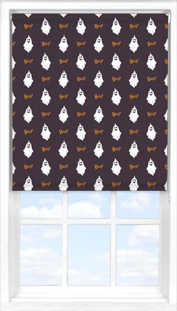Motorised Roller Blind in Halloween Boo Translucent