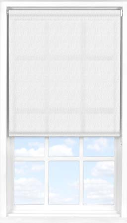 Motorised Roller Blind in Herringbone White Translucent