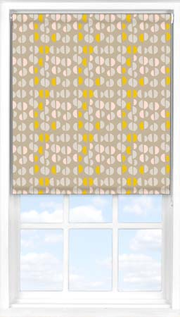 Motorised Roller Blind in Neutral Nursery Blackout