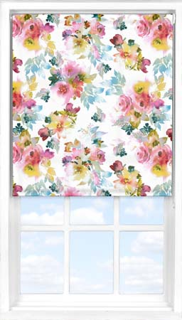 Motorised Roller Blind in Oriental Rose Translucent