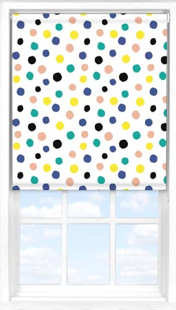 Motorised Roller Blind in Pom Pom Blackout