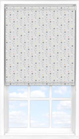 Motorised Roller Blind in Soothing Starfall Blackout