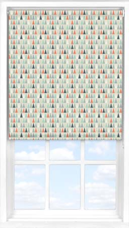 Motorised Roller Blind in Contemporary Christmas Blackout