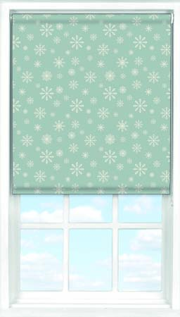Roller Blind in Snowflakes Blackout