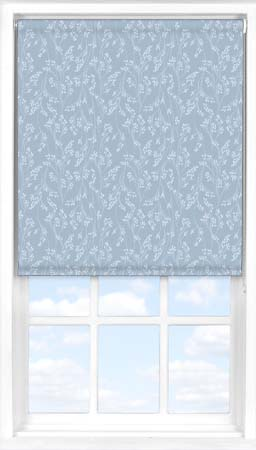 Motorised Roller Blind in Barley Fields Blue Blackout