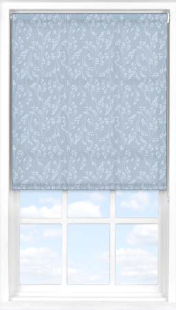 Motorised Roller Blind in Barley Fields Blue Translucent