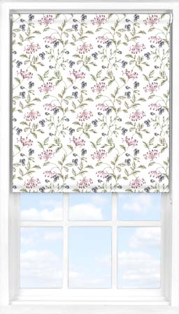 Motorised Roller Blind in Hedgerow Blackout