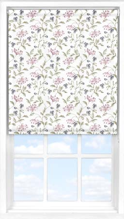 Motorised Roller Blind in Hedgerow Translucent