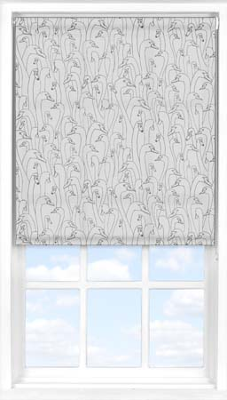 Motorised Roller Blind in Wild Geese Dark Grey Translucent