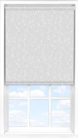 Motorised Roller Blind in Wild Geese Light Grey Blackout