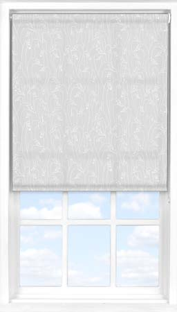 Motorised Roller Blind in Wild Geese Light Grey Translucent