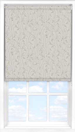 Motorised Roller Blind in Wild Geese Taupe Blackout