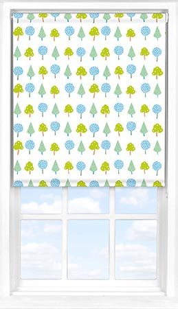 Motorised Roller Blind in Crafty Leaves Blackout