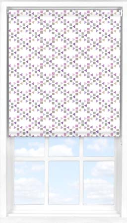 Motorised Roller Blind in Triangles Candy Blackout