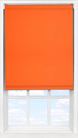 Easifit Roller Blind in Mandarin Blackout