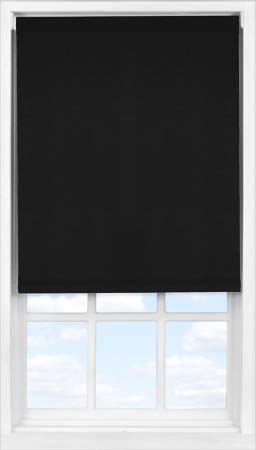 Easifit Roller Blind in True Black Translucent