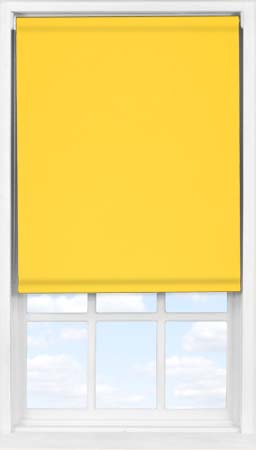 EasyFit Roller Blind in Canary Yellow Blackout