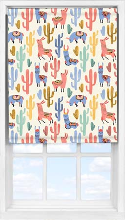 Easifit Roller Blind in Happy Llamas Blackout