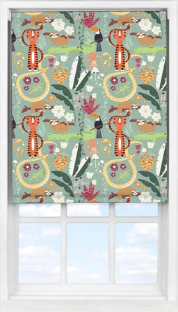 Easifit Roller Blind in Jungle Friends Blackout
