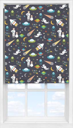 Easifit Roller Blind in Space Age Blackout