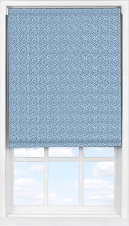 Easifit Roller Blind in Scattered Spots Blue Blackout