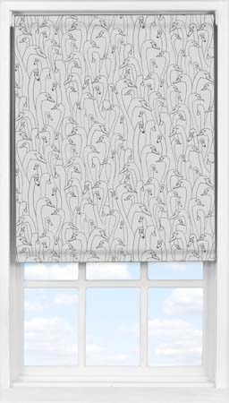 Easifit Roller Blind in Wild Geese Dark Grey Blackout