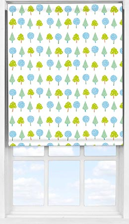 Easifit Roller Blind in Crafty Leaves Blackout
