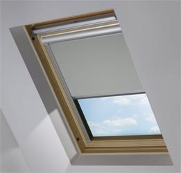 Solar Skylight in Marl Grey Blackout