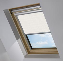 Solar Skylight in Neutral Herringbone Blackout