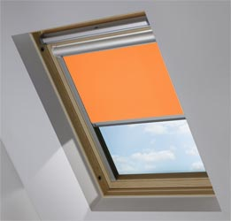 Solar Skylight in Pumpkin Blackout