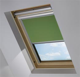 Solar Skylight in Rich Olive Blackout
