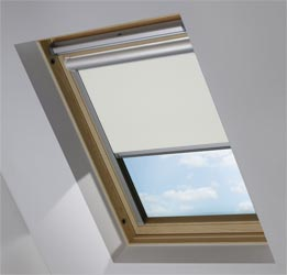 Solar Skylight in Soft Grey Mist Blackout
