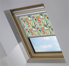 Solar Skylight in Jungle Friends Blackout