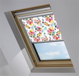 Solar Skylight in Oriental Rose Blackout