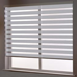 Zebra Roller Blind in Pale Ash