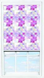 Main display image for BlocOut™ product with Trigonmetry Stripe Candy Blackout fabric