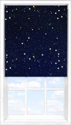 Main display image for Roller Blind product with Cosmos Blackout fabric