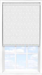 Main display image for Roller Blind product with Grey Polka Dot Blackout fabric