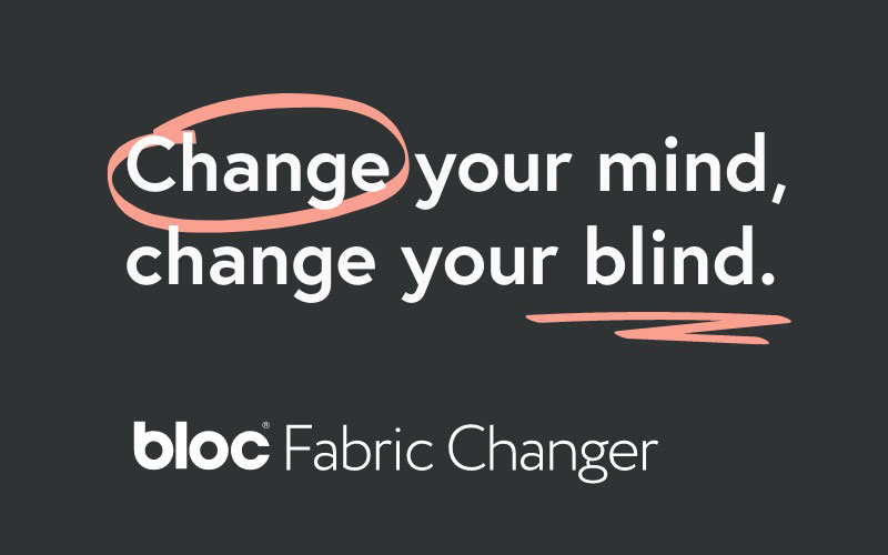 Bloc Blinds Fabric Changer Tablet Bottom