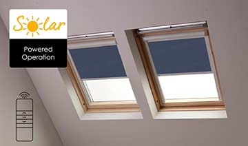 Solar-powered blinds for Roto skylights