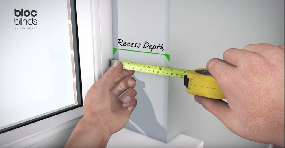 How to measure window recess depth