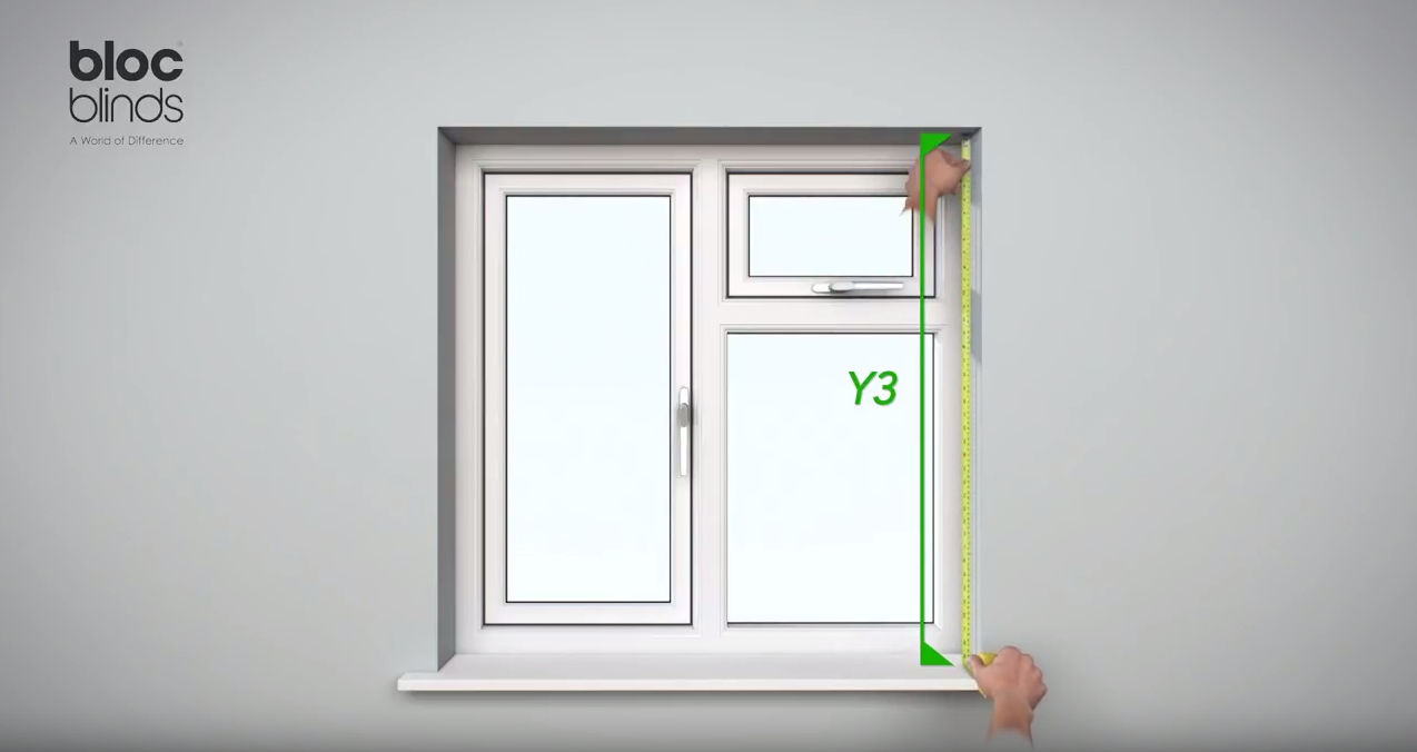 How to measure Height at the right of the window