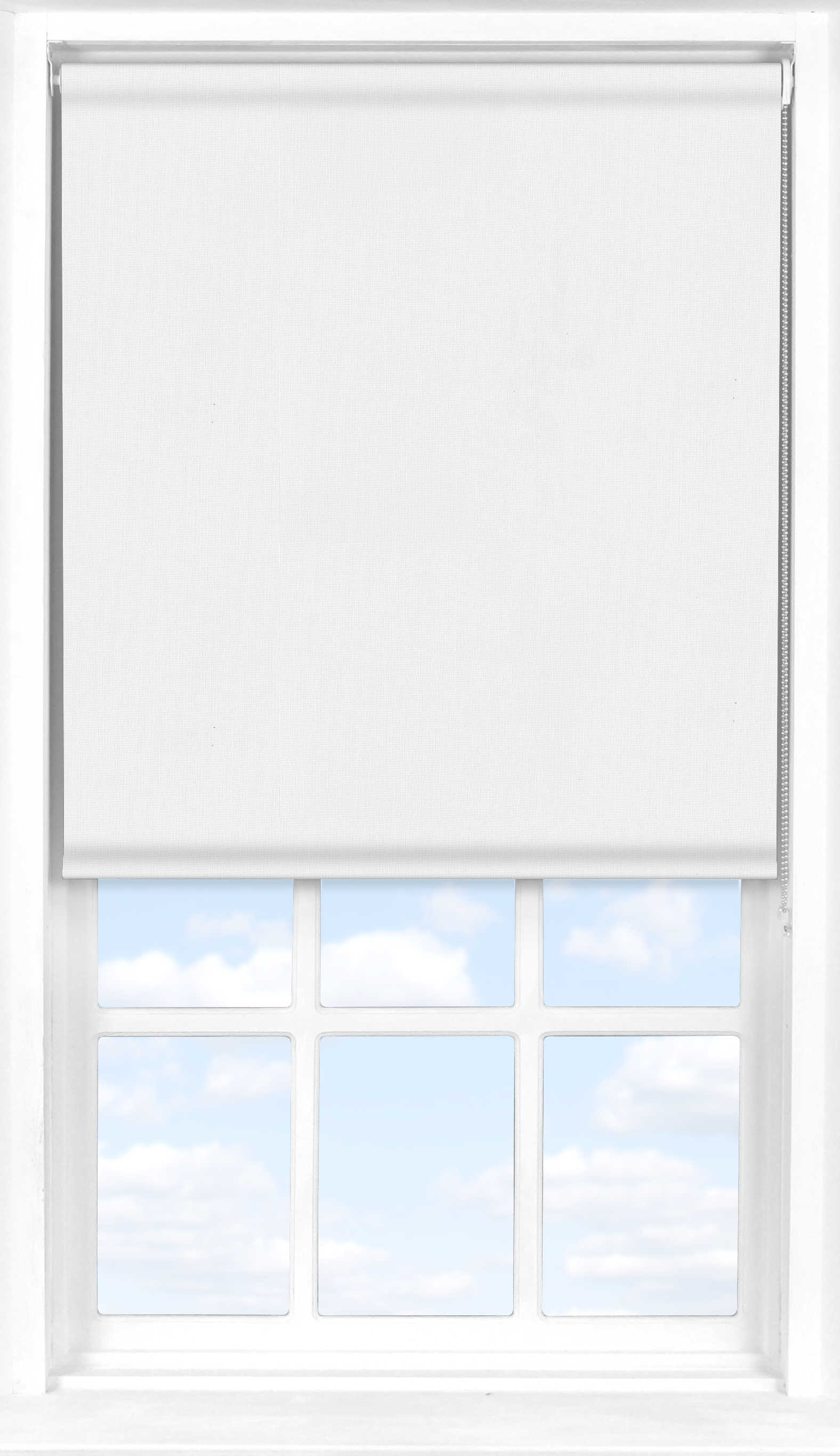 Roller Blind in Elements White Blackout
