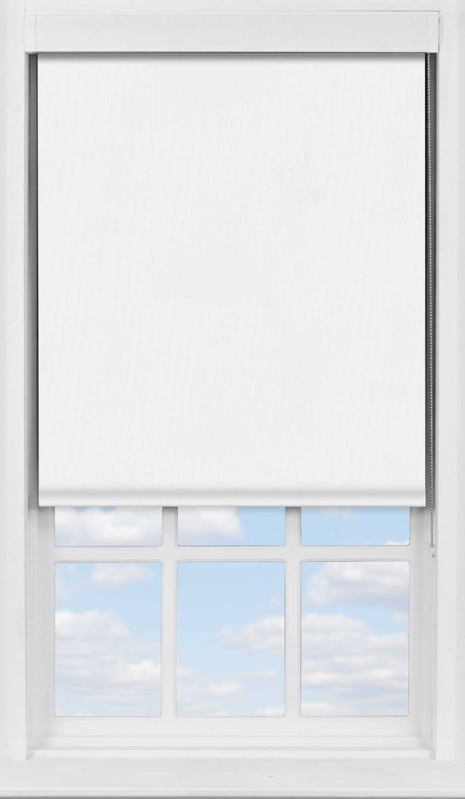 Premium Roller Blind in Elements White Blackout