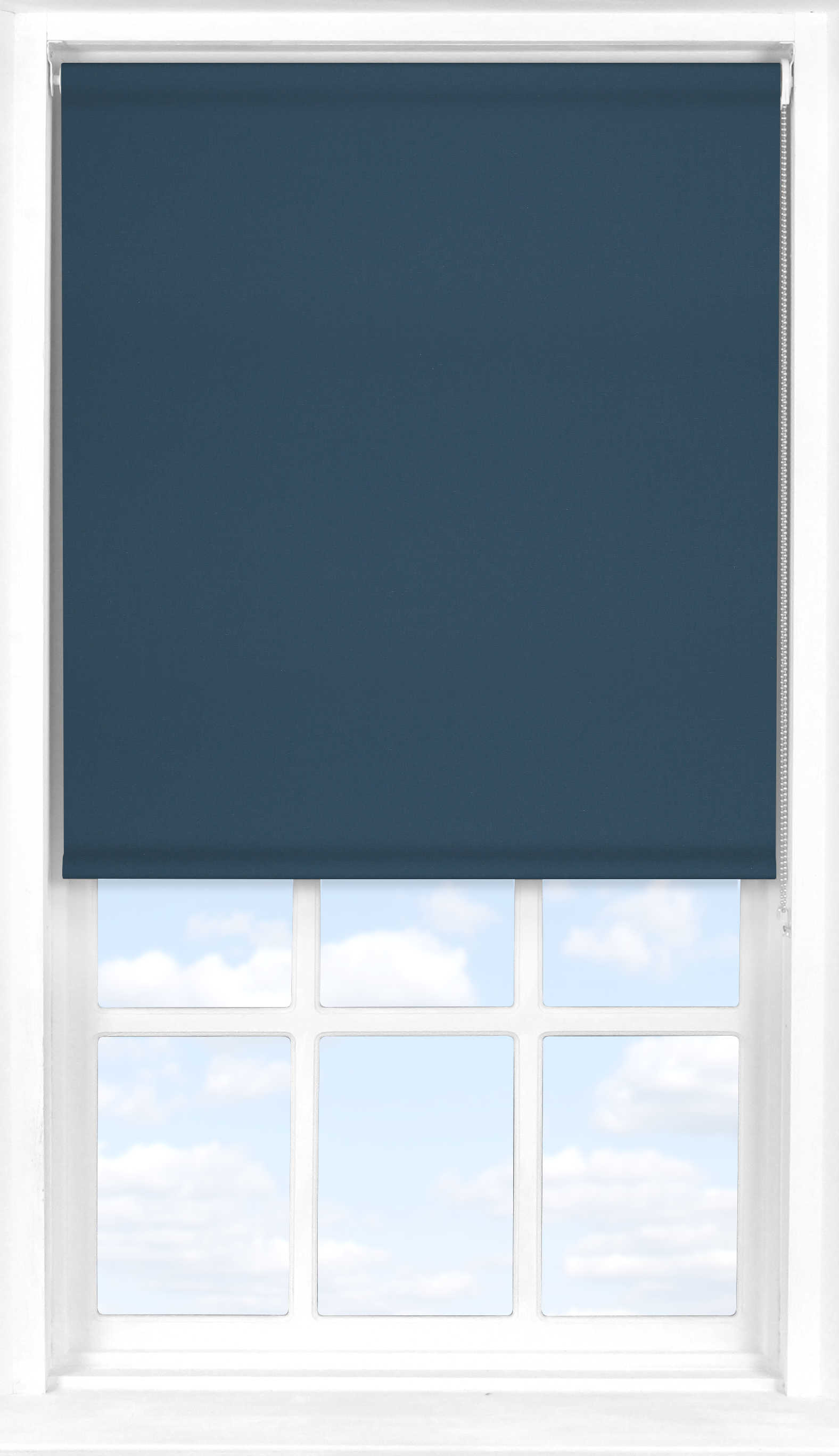 Roller Blind in Fisherman Blue Blackout