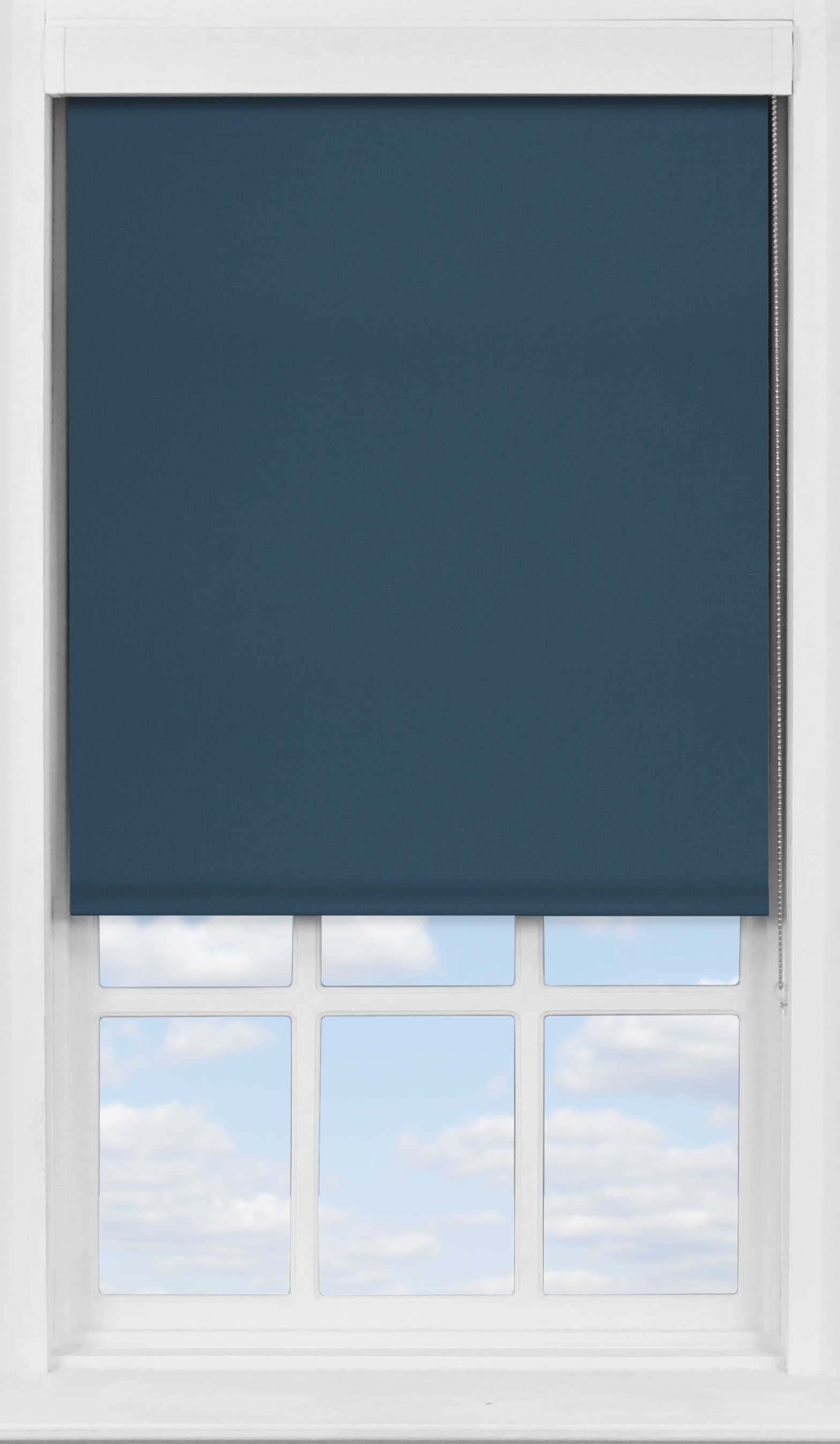 Premium Roller Blind in Fisherman Blue Blackout